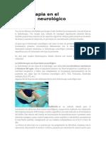 Hidroterapia en el paciente TERAPIA ACUATICA