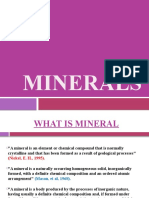 MINERALS LECTURE
