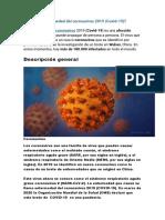 Qué es la enfermedad del coronavirus 2019