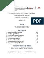 ACTIVIDAD 3. MATRIZ DE MEMORIA REFERENTE A LAS LECTURAS