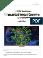 Artículo sobre coronavirus