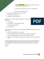 """RAP2_EV01 Evidencia 1. Prueba de Conocimiento """"Preguntas sobre Planificación del SG-SST"""""""