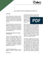 LECTURA DE APOYO 1 La práctica de la innovación en las empresas de servicios