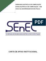 Carta de apoio institucional