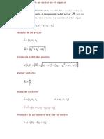 Componentes de un vector en el espacio