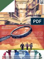 La Ética Profesional