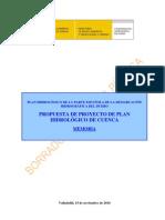 Plan Hidrológico del Duero 2010-2015. Resumen Introductorio MEMORIA Capitulo 0 Indice