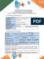 Guia de actividades y rubrica de evaluacion -Fase 4  Sistematización de datos