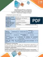Guía de actividades y rúbrica de evaluación - Fase 3 Preparación del trabajo de campo