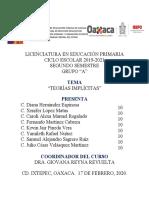 ACTIVIDAD 2. ANÁLISIS DE LAS CONCEPCIONES DE LAS TEORÍAS IMPLÍCITAS
