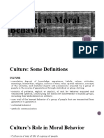 Culture in Moral Behavior
