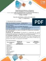 Guia de actividades y Rúbrica de evaluación - Fase 3 - Diagnóstico