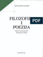 Hans Georg Gadamer - Filozofija i Poezija