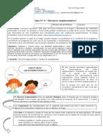 Lengua y Literatura, Guía 2, segundo medio, Discurso argumentativo.