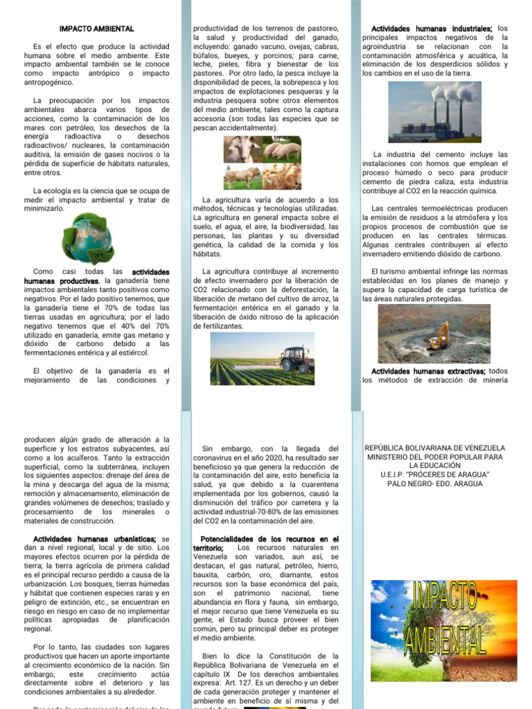Impacto Ambiental Y Actividades Humanas Impacto Humano En El Medio Ambiente Entorno Natural