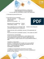 - Fase 1 - Fundamentos del estudio de la personalidad