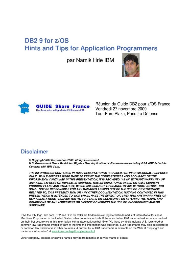 db29 tips for programmers database index ibm db2 rh scribd com