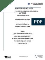 ADMINISTRACION DE UNA EMPRESA UNIVERSIDAD IFES