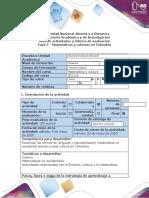 Guía de actividades y rúbrica de evaluación - Fase 5 - Matemáticas y culturas en Colombia