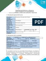 Guía de actividades y rúbrica de evaluación - Fase 8 - Informe Final