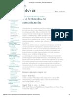 1.4 Protocolos de comunicación - Redes de computadoras