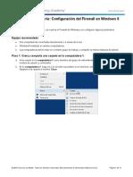 Practica de laboratorio 86 - Configuración del Firewall en Windows 8