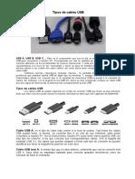 Tipos de Cables USB