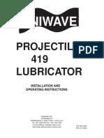 Instruction manual uniwave projectile