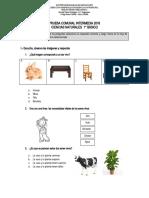 PRUEBA Ciencias 1° básico INTERMEDIA 2016