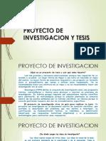 PROYECTO DE INVESTIGACION Y TESIS