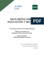 Neoliberalismo, Educacion y Musica. Dulce María Cano Maqueda