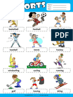 Sports Esl Picture Dictionary for Kids