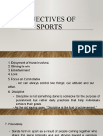 OBJECTIVES OF SPORTS