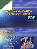 CHARLA CONTROL DE CALIDAD - CONTROL DE CALIDAD DE MEDICAMENTOS.