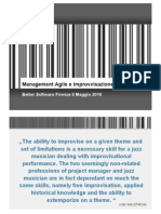 Management Agile e Tecniche Improvvisazione Jazz