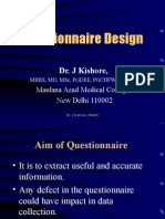 Questionnaire Design in Public Health Research