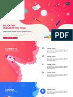 Creative school education Free powerpoint template minimal design idea - PPTMON.pptx