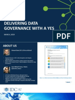 delivering data governance with a yes