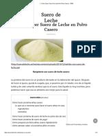 ▷ Cómo Hacer Suero De Leche En Polvo Casero - 2020.pdf