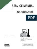 CLARK Forklift --GEX 30