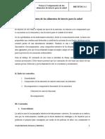 Tema 4.Componentes saludables de interés para la salud