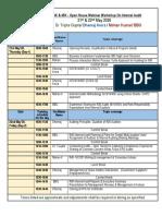 45K Webinar Workshop Detailed Plan 21st & 22nd May 2020