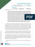 Convocatoria Galicia 2020