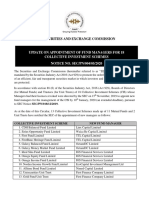 Public Notice Update on Appointment of Fund Managers for 18 Collective Investment Schemes