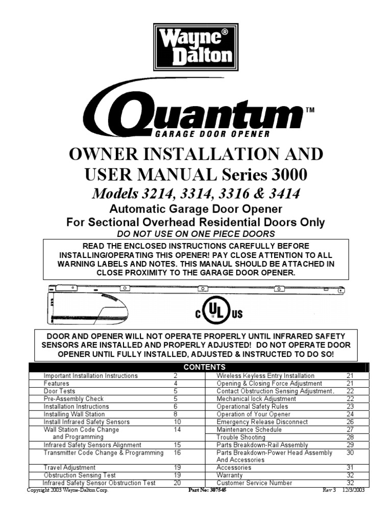 Quantum Garage Door Opener Electromagnetic Interference Legacy Wiring Diagram