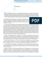 Convocatoria Oposiciones 2020 País Vasco