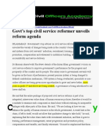 Civil Service Reforms The News 10th May,2020