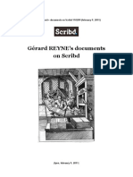 # REYNE, Gérard • Hypertext Catalog of Documents & Collections on Scribd. 110209 (february 9, 2011)