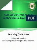 Week 14 - April 25 ISO 31000