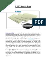 Rfid Active Tags Buy Active UHF RFID Tag Manufacturer India, Gurgaon PDF File